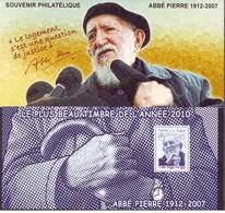 France 2011 - Souvenir Philatélique Du N° 66 - Abbé Pierre Mnh - Francia