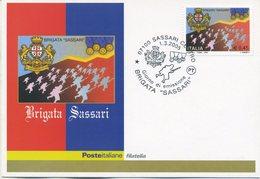 ITALIA - FDC MAXIMUM CARD 2005 - BRIGATA SASSARI - ANNULLO SPECIALE - Cartoline Maximum