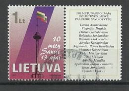 LITAUEN Lithuania 2001 Michel 750 Zf O - Lithuania