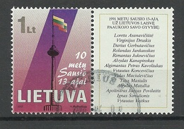 LITAUEN Lithuania 2001 Michel 750 Zf O - Lituanie