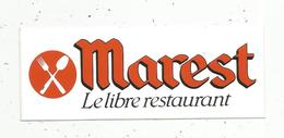 Autocollant ,  MAREST , Le Libre Restaurant - Autocollants