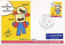 ITALIA - FDC MAXIMUM CARD 2005 - OLIMPIADI INVERNALI - MASCOTTE - ANNULLO SPECIALE - Maximumkarten (MC)