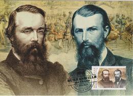 Australia Maximum Card Mi 3447 - Postal Stationery - Burke & Wills 150 Years - Crossing Australia - Portraits - 2010 - Maximumkaarten