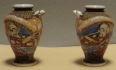 Paire De Vases Satsuma   émaillés TBE - Céramiques