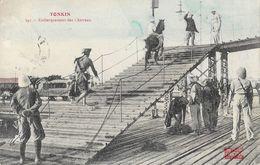 Tonkin, Embarquement Des Chevaux - Collection Passignat - Carte N° 347 - Vietnam