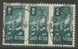 South Africa - 1942 Infantry 1/2d Bilingual Strip Used   SG 97  Sc 90 - Used Stamps