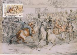 Australia Maximum Card Mi 3448 - Postal Stationery - Burke & Wills 150 Years - Leaving Melbourne - Horses - 2010 - Maximumkaarten