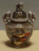 Brûle Parfum  émaillé Satsuma - Ceramics & Pottery