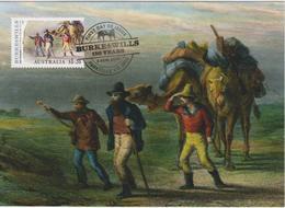 Australia Maximum Card Mi 3449 - Postal Stationery - Burke & Wills 150 Years - Return From Gulf - Camels - 2010 - Maximumkaarten