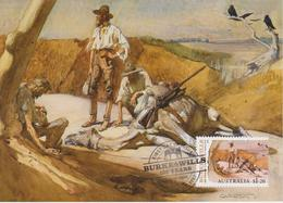 Australia Maximum Card Mi 3450 - Postal Stationery - Burke & Wills 150 Years - Towards Mt. Hopeless - 2010 - Maximumkaarten