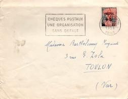 Fréjus à Surtaxe SSL Sur Marianne à La Nef - YT 1229 - Vincennes 21.12.1959 - Marcophilie (Lettres)