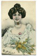 CPA - Carte Postale - Fantaisie - Femme - Bouquet De Fleurs - 1904 (C8636) - Femmes