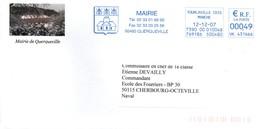 Mairie De Querqueville 2007 - Manche - EMA Avec Blason Aux Abeilles De Napoléon - EMA (Printer Machine)