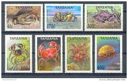 Mua216 FAUNA KRABBEN SCHAALDIER CRUSTACEAN CRAB KREBSTIERE MARINE LIFE TANZANIA 1994 PF/MNH # - Schalentiere