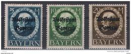 BAVIERA:  1919  SOPRASTAMPATI  -  3  VAL. L. -  YV/TELL. 133/35 - Nuovi