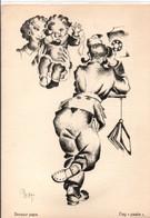 Carte De Franchise Militaire - Bonjour Papa - Dag Paake - Soldat Au Téléphone - Gea - 2 Scans - Oorlog 40-45