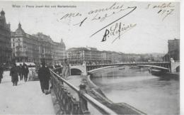 AK 0242  Wien - Franz Josef-Kai Und Marienbrücke / Verlag Nachbargauer Um 1907 - Wien Mitte