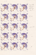 Lebanon-Liban Olynmp.Games Roma 7,50PL:sheet Of 15,MNH2 Strip Dble RING, Se Tenant 4 Strip Normal-RARE-Red.Pr. SKRILL ON - Lebanon