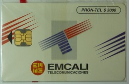 COLUMBIA - Chip - $3000 - Emcali - 06/95 - 5000ex - Mint Blister - Colombia