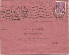 MERCURE 20C SEUL BANDE COMPLETE PARIS 94 9 NOV 1938 RARE AU TARIF - 1938-42 Mercure