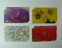 ISRAEL - Bezeq - Flowers & Colours - Set Of 4 - BZ-210/213 - In Folder - Mint - Israel