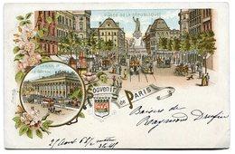 CPA - Carte Postale - France - Souvenir De Paris - Place De La République -1905 (C8641) - Souvenir De...