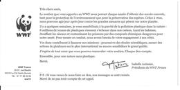 Carton De Soutien WWF. - W.W.F.