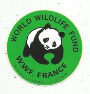 Autocollant , WORLD WILDLIFE FUND , W.w.f. France - Autocollants
