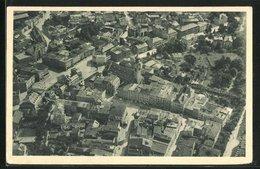 AK Rosenheim, Ortsansicht Mit Kirche, Häuser Und Plätzen Vom Flugzeug Aus - Rosenheim