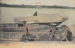 Tonkin, Hai-Phong - Transbordement De Terre à Bord D'une Jonque - Collection Passignat - Carte Colorisée N° 187 - Vietnam