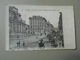 ITALIE LAZIO ROMA ROME VIA NAZIONALE PALAZZO DELLE BELLE ARTI  PRECURSEUR - Roma (Rome)