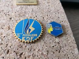 2 PINS EDF SUR LE CENTRE DE FORMATION DE LA PEROLLIERE - EDF GDF