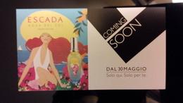 ESCADA Agua Del Sol Parfum Carte - Perfume Cards