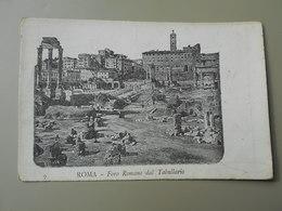 ITALIE LAZIO ROMA ROME FORO ROMANO DAL TABULLARIO  PRECURSEUR - Roma (Rome)