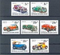 Mua239 TRANSPORT AUTO LINCOLN MERCEDES BENTLEY ALFA ROMEO MG MIDGET CLASSIC CAR ALTE AUTOS GUINÉ-BISSAU 1984 PF/MNH # - Auto's