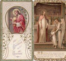 Dept 62,Pas De Calais,Lot De 4 Anciennes Cartes De Communion,Eglise Notre-Dame D'Hesdin - Communion