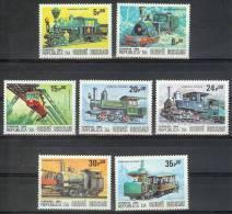 Mua394 TRANSPORT TREINEN TRAIN ZUG STOOMLOKOMOTIEVEN STEAMERS LOCOMOTIVES EISENBAHN GUINÉ-BISSAU 1984 PF/MNH # - Treinen