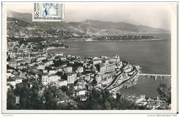MONTE - CARLO -   Vue Générale   Le  Cap Martin Et L,Italie     (  Voir  Verso ) - Monaco