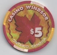 Jeton De Casino : Casino Windsor Ontario Canada $5 - Casino