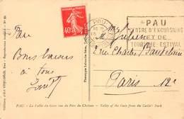 PIE.LOT CH-19-4985 : PAU. CENTRE D'EXCURSIONS ET DE TOURISME ESTIVAL. PYRENEES ATLANTIQUES. - Mechanical Postmarks (Other)