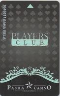 Carte De Membre Casino : Pasha Casino Players Club : Nicosia - Chypre Du Nord - Casinokarten