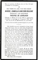 Melsen, Lemberge, 1960, Marie Van Den Bulcke, De Schrijver - Images Religieuses