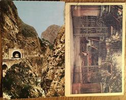2 CPA, Sétif, Algérie,la Square Barral, Gorges Du Chabet El Akra - Setif