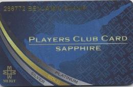 Carte De Membre Casino : Merit Casino - Players Club Card Sapphire : Chypre Du Nord - Cartes De Casino
