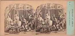 PHOTO STEREO 19 Eme DUMANET AU SERAIL ARRIVEE DE DUMANET  N° 2 Humour épisode De La Guerre D' Alger - Stereoscopic