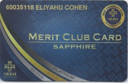 Carte De Membre Casino : Merit Casino - Merit Club Card Sapphire : Chypre Du Nord (ABIMÉ) - Cartes De Casino