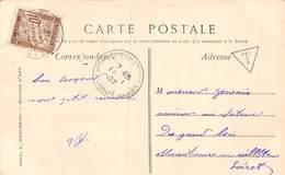 PIE.LOT CH-19-4990 : CARTE POSTALE VENANT DE SAINT BENOIT SUR LOIRE. LOIRET . TAXEE 10 CENTIMES - Postmark Collection (Covers)