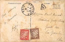 PIE.LOT CH-19-4992 : CARTE POSTALE VENANT DE BEAUVAIS. OISE. . TAXEE 10 CENTIMES ET 30 CENTIMES. - Postmark Collection (Covers)