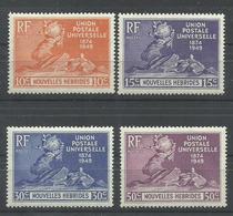 NOUVELLES HEBRIDES YVERT  136/39   MNH  ** - Leyenda Francesa