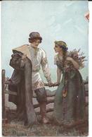New Year Old Postcard : Art - Yugoslavia  - Stamp - 1919 Chain Breaker - Yugoslavia